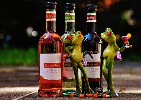 カエル, ワイン, ドリンク, レストラン, ヴァインシュトゥーベ, アルコール