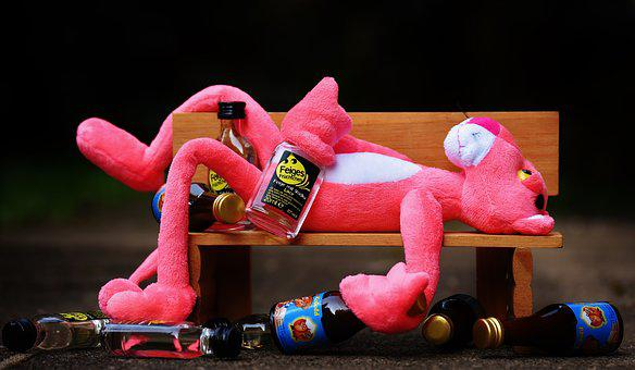 The Pink Panther Drink Alcohol Drunk Bank
