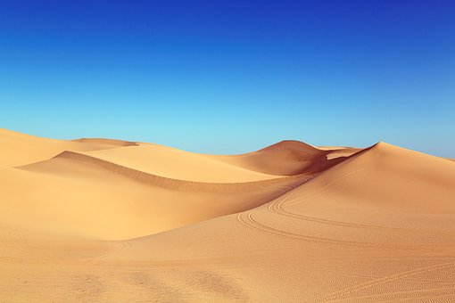 砂漠, 砂丘, Algodones 砂丘, 砂, 自然, ワイド, 日光