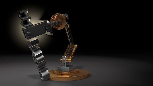 Atelier, La Lumière, Lampe, Robot