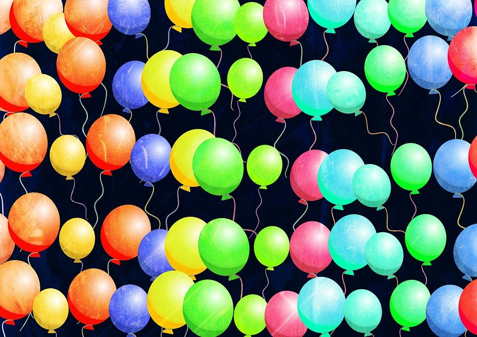 Birthday Party Balloons Free image on Pixabay