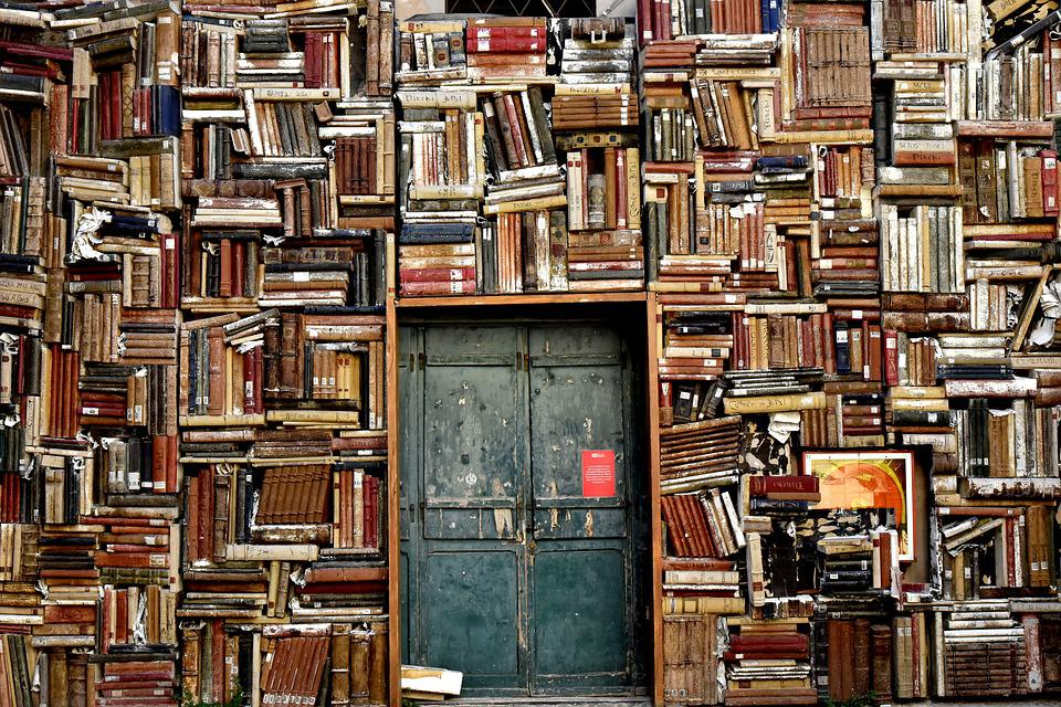 Books, Door, Entrance, Italy, Colors, City, Scenography