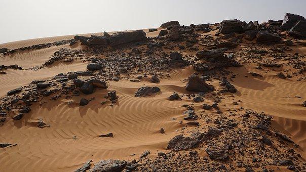 Desert Rocks Sand Sudan Meroe Sudan Sudan