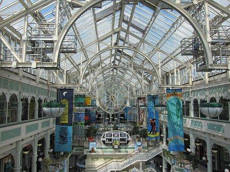 Shopping Mall, Shopping Centre, Clock
