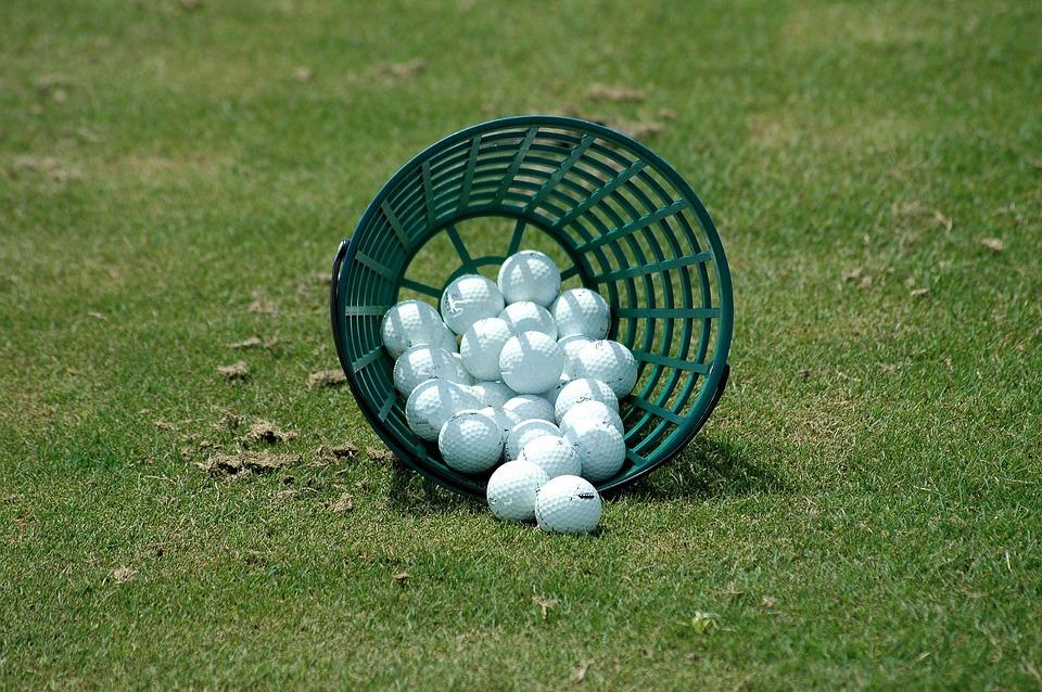 golf balls driving range basket free photo on pixabay rh pixabay com Nike Golf Balls Bucket of Golf Balls