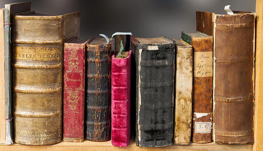 本, 読む, 年, 文学, 本棚, 古い本, ハードカバー, カバー