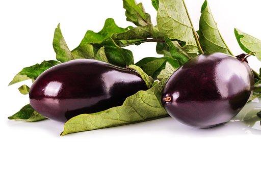 Eggplant, Vegetables, Vegetarian, Lilac