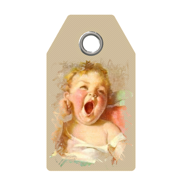 Free Illustration Tag Vintage Collage Baby Old Free