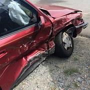 free vector graphic crash car accident stop sign car. Black Bedroom Furniture Sets. Home Design Ideas