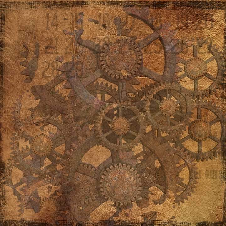 free illustration background steampunk gears free