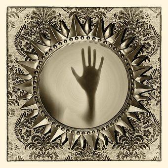 ミラー, 魂の鏡, 魔法の鏡, 幽霊, ホラー, 暗い, 怖い, 心霊術
