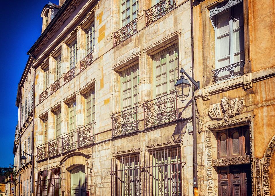 Façade, L'Architecture, France, Beaune, Vivre, Maisons