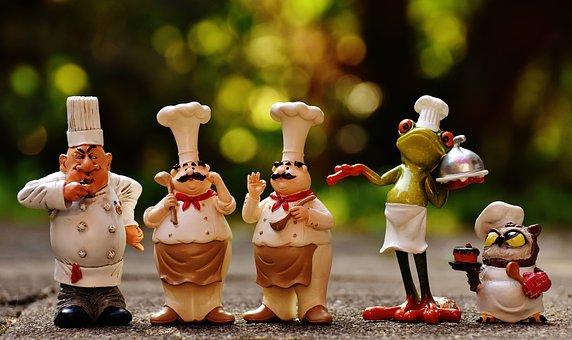 Chefs, Figures, Funny, Cook, Restaurant
