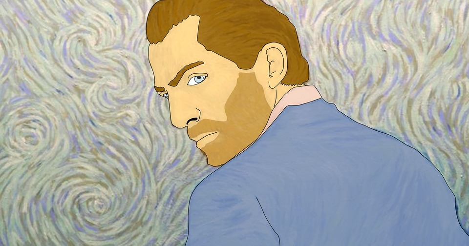 Van Gogh, Artiste, Homme, Illustration