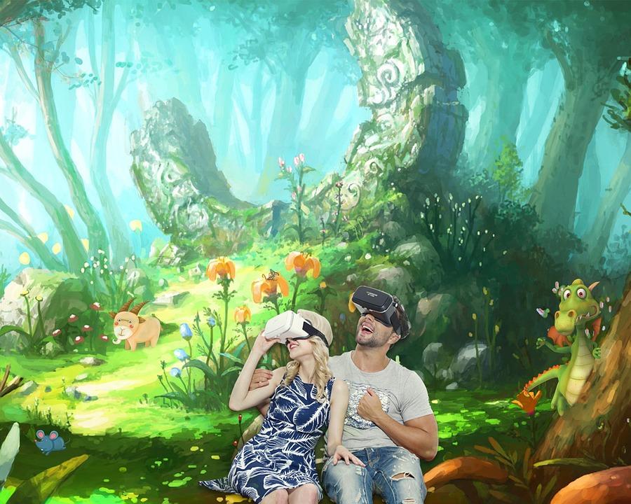 Plakát, Fantazie, Cartoon, Family, Virtuální Realita