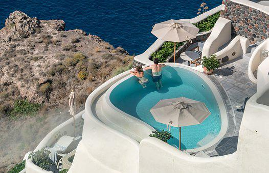 Santorini Oia Greece People Person Pool Le