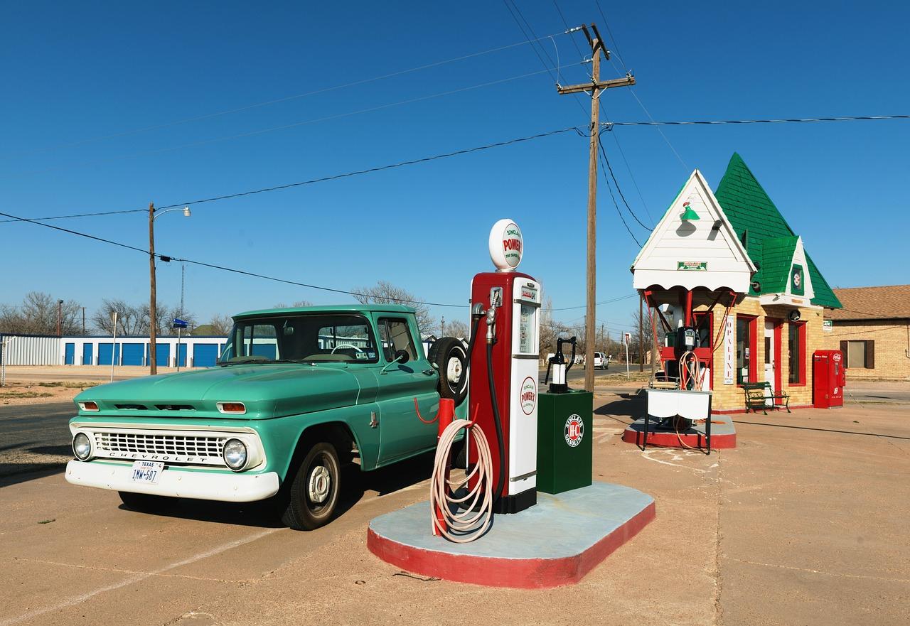ガソリンスタンド, ワークショップ, ガレージ, 古い, ヴィンテージ, 自動車修理, レースステッレ