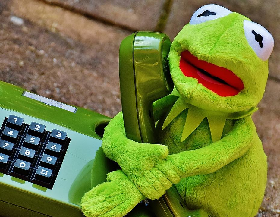 Kermit Frog Phone Figure Funny Frogs Animal