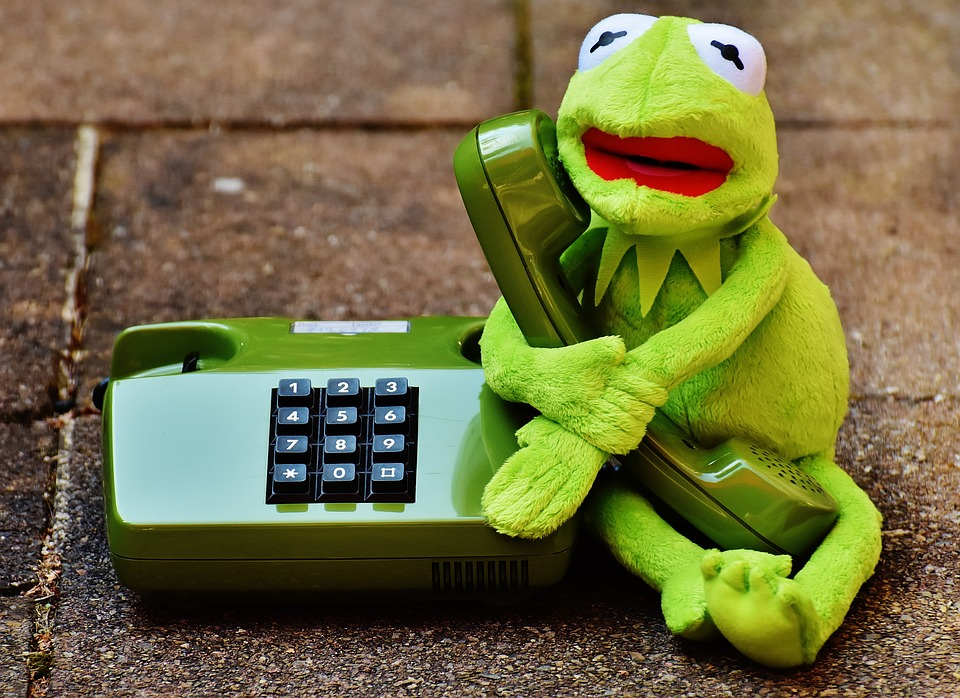 Funny Kermit The Frog: Free Photo: Kermit, Frog, Phone, Figure, Funny