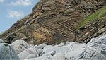 strata, folded, rock