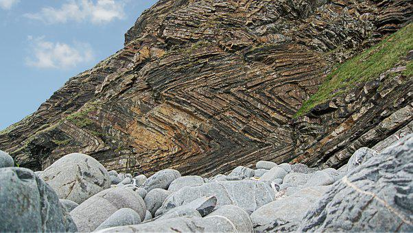 Strata, Folded, Rock, Fold, Sedimentary