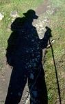 shadow, trek, trekker
