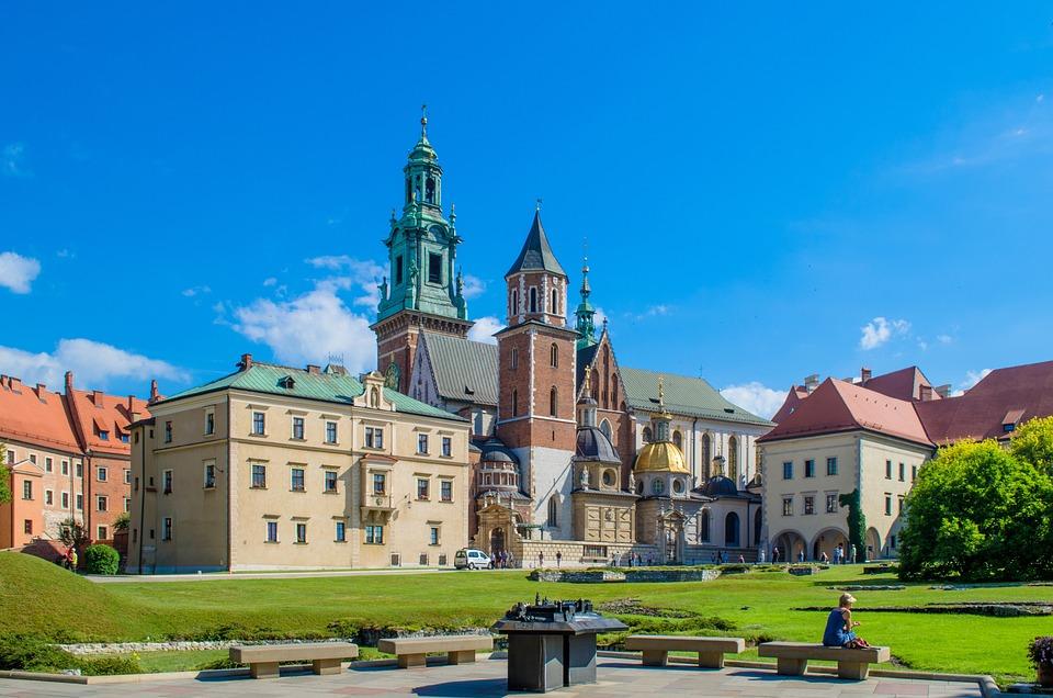 Kraków, Zamek, Twierdza, Ogród, Wawel, Europa, Polska