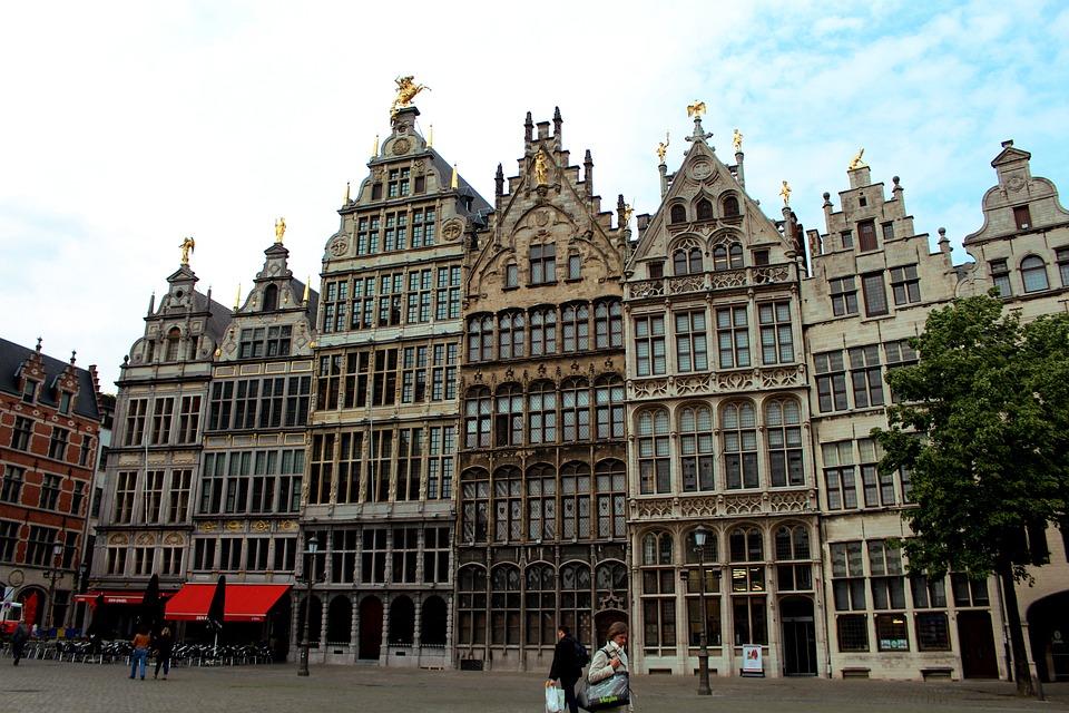 Antwerpen, België, Wolken, Architectuur, Hemel