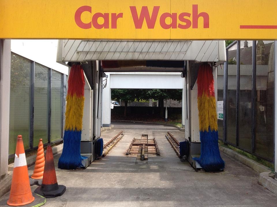 car wash brushes clean wash garage