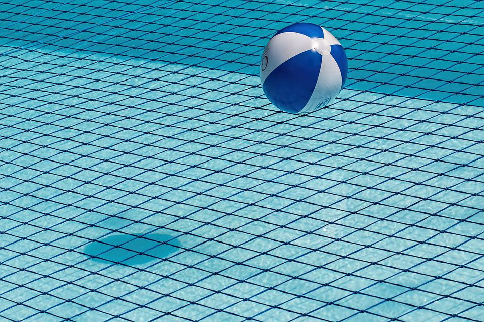 Pool Water With Beach Ball free photo: swimming pool, safety net - free image on pixabay