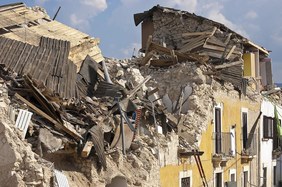 Earthquake, Rubble, Collapse, Disaster, House, Roads