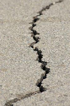 Tremblement De Terre, Fracture, Asphalte