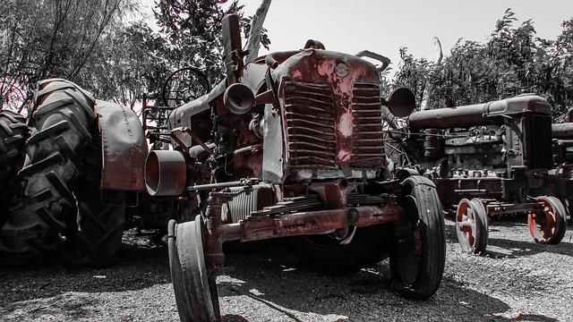 free photo  tractor  old  rusty  machinery