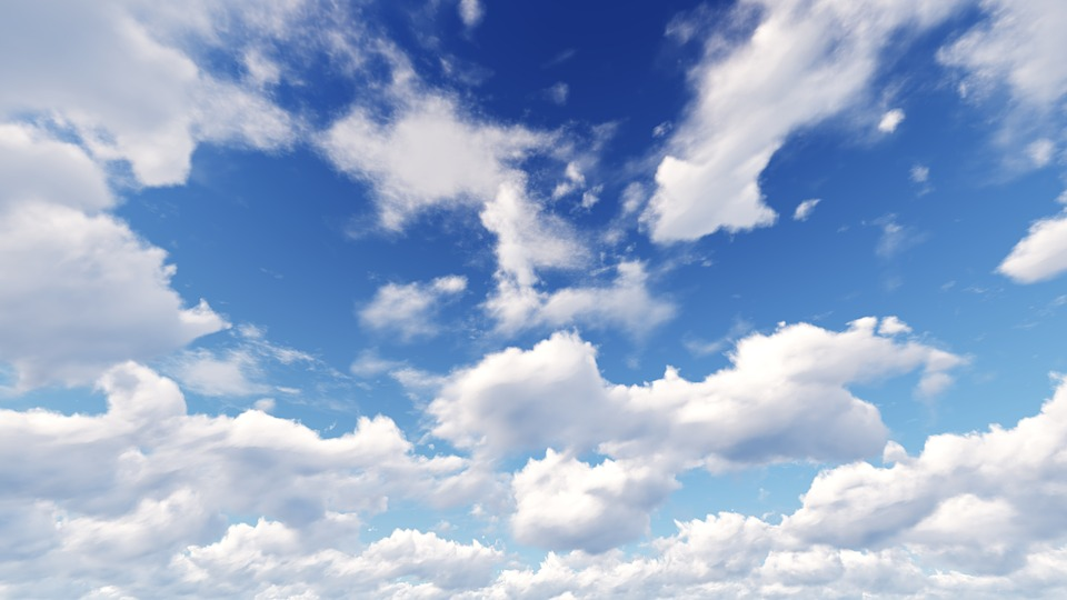 Free photo sky blue white cloud sunny days free - Stickers muraux nuages blancs ...