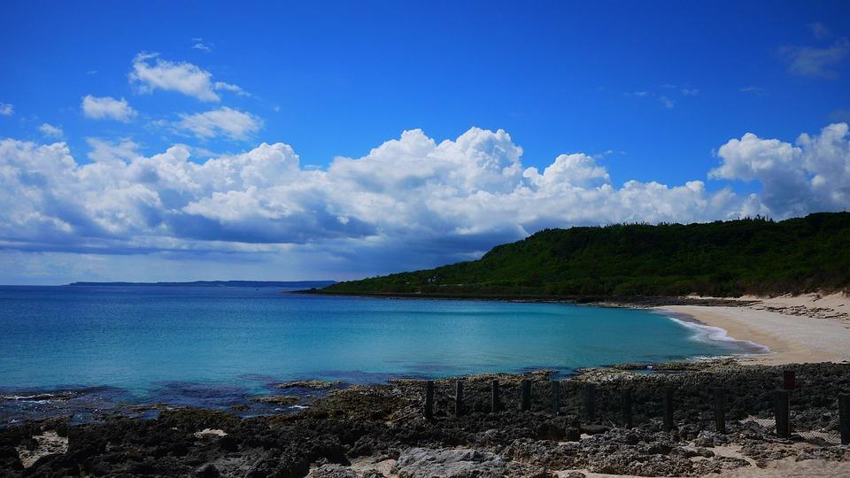 海, 沙岸, 藍天, 白雲, 龍磐公園, 藍, Sea, Coast, Seacoast, Beach