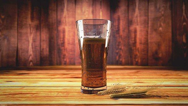 Cerveja, Tipple, Drink, Glass, Mug, Cevada