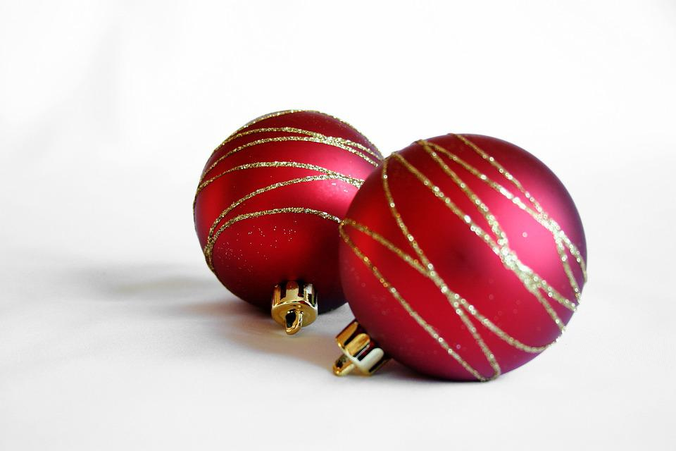 Christmas Decorations Balls Red Free Photo On Pixabay