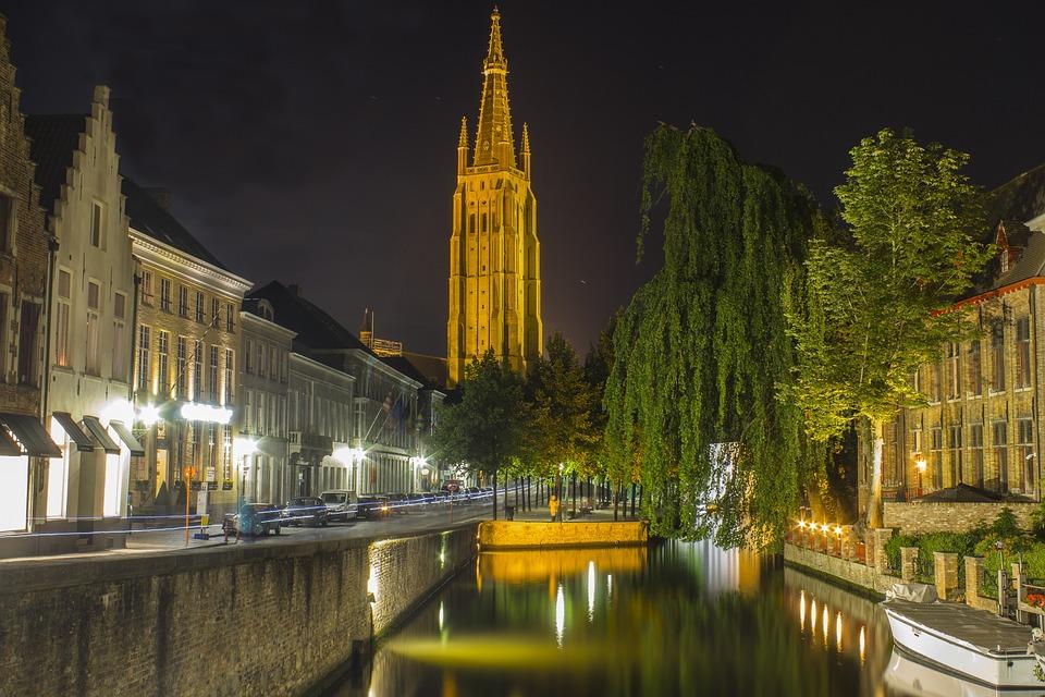 Bruges Filières Nocturne Photo Gratuite Sur Pixabay