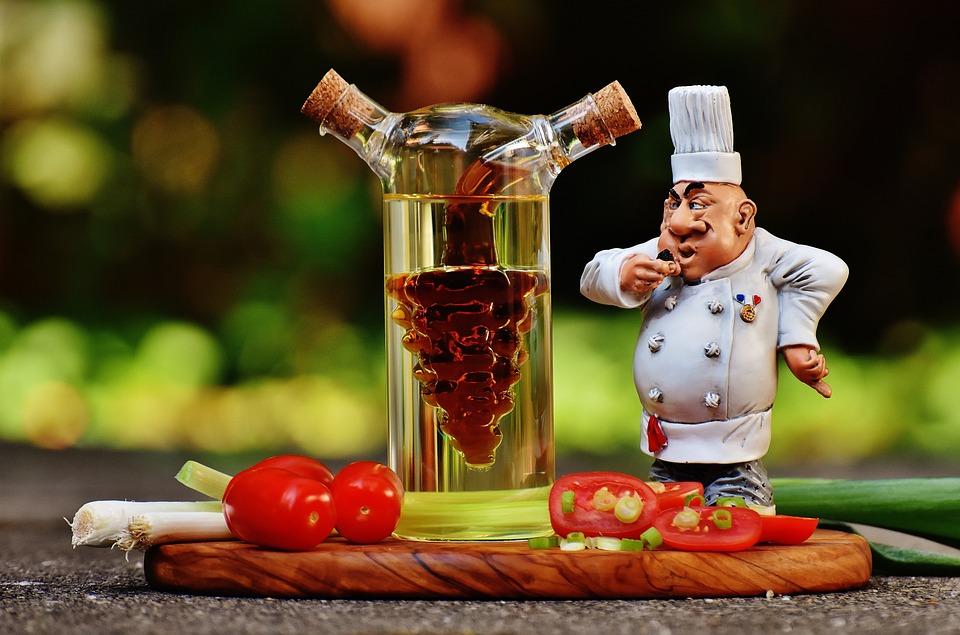 Cozinha, Figura, Vinagre, Petróleo, Tomate, Cebolas
