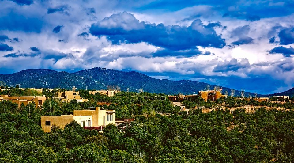 Santa Fe, Nouveau Mexique, Ville, Urbaines, Bâtiments