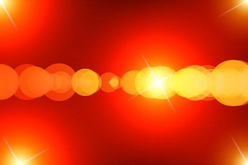 Light, Bokeh, Shining, Yellow, Red