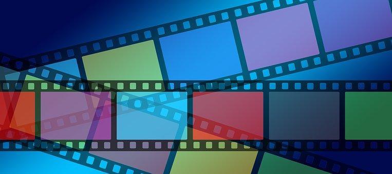 ビデオ, 映画, フィルム ストリップ, カラフル, 色, アナログ, 録画