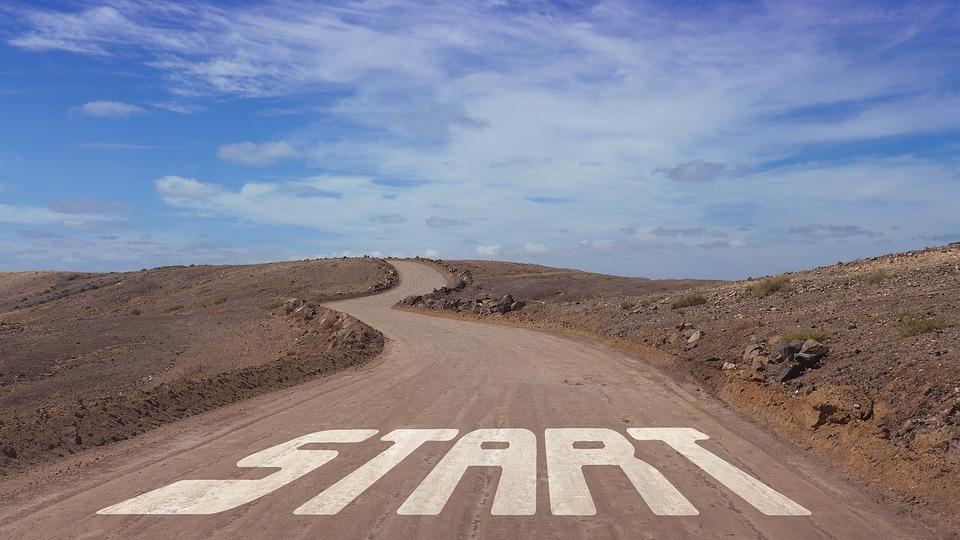 道路, 開始, 初め, デザイン, コンセプト, 概念, 計画, 添付ファイル, 提供します, プロジェクト