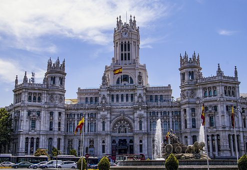 Vista Palacio de Cibeles Madrid