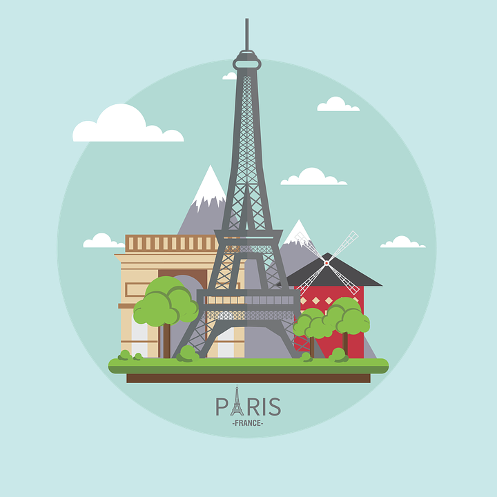 Paris France French 183 Free Vector Graphic On Pixabay
