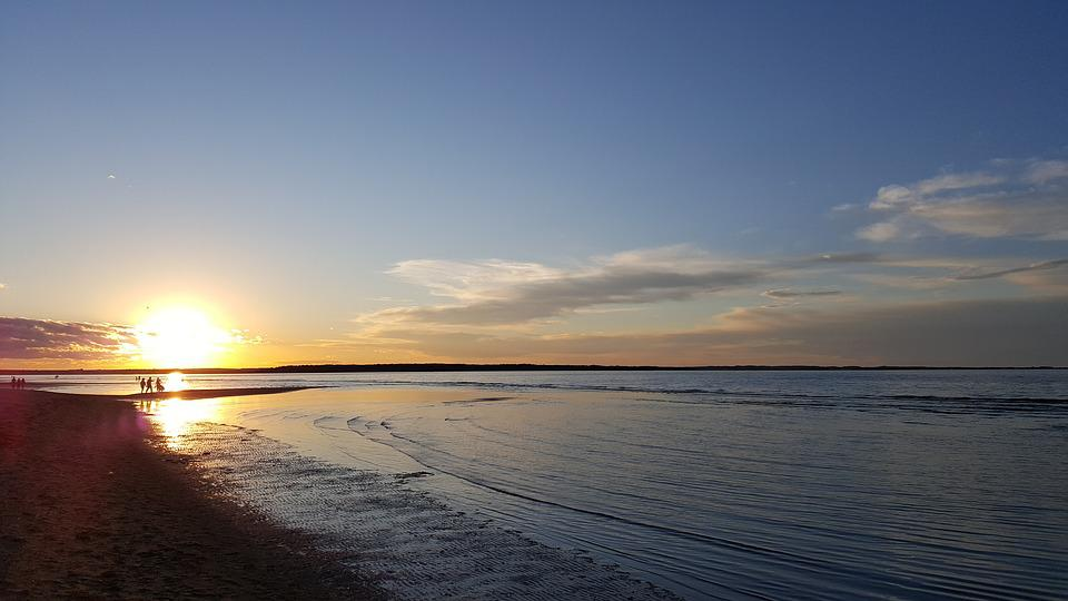 beautiful sunset at parlee beach, Moncton city, Canada