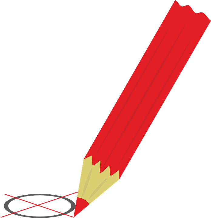 Selecteer, Keuze, Verkiezingen, Rood, Rode Pen