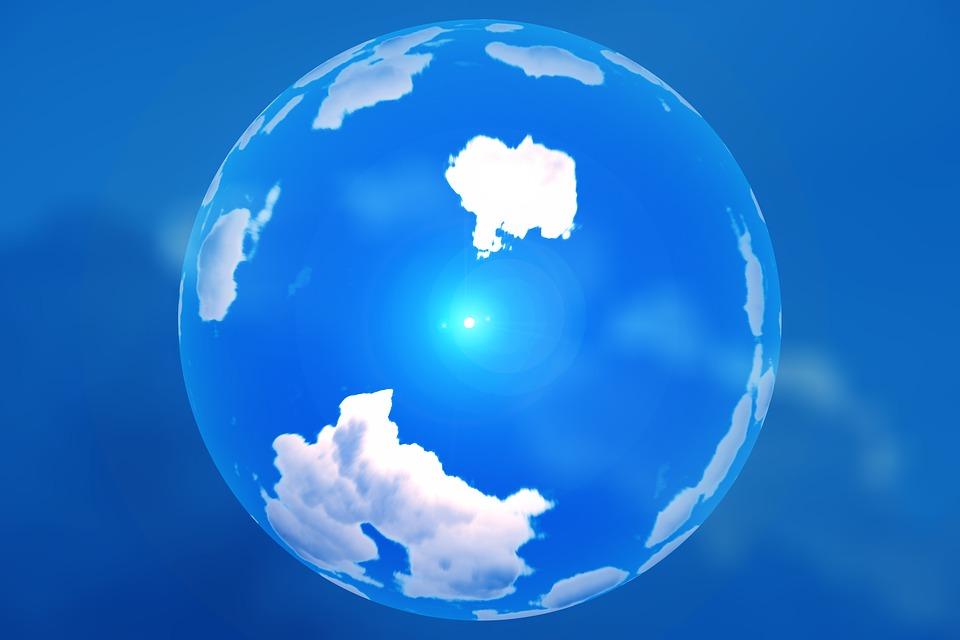 фото с земным шаром в облаках последних