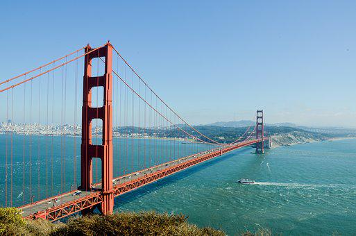 Golden Gate Bridge, Usa, America, Bridge