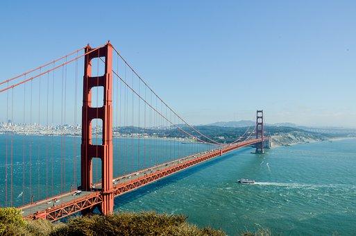 Golden Gate Bridge, Usa, America, Bridge
